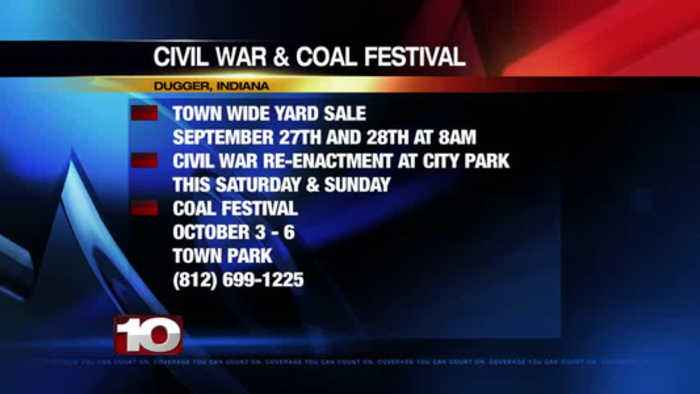 Civil War & Coal Festival Town Wide Yard Sale Sept 27th at 8am