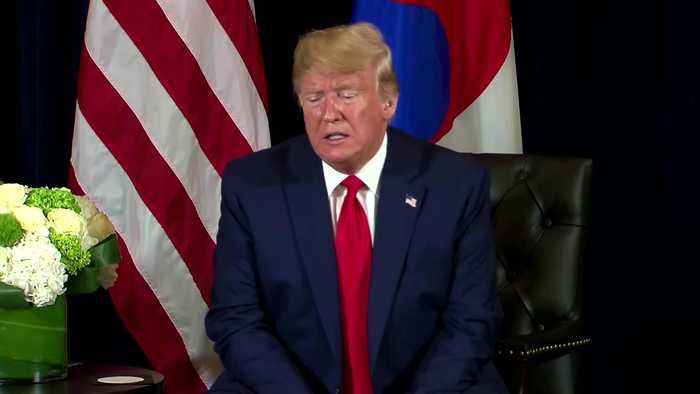 """Trump says """"we'll see"""" about possible third Kim summit"""