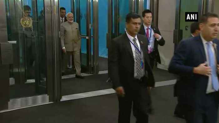 PM Modi arrives at UN Headquarters for UNGA's Summit