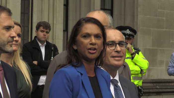 Gina Miller reacts to Supreme Court prorogation ruling