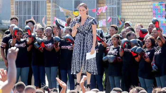 Duchess of Sussex delivers powerful 'I am a woman of colour' speech in South Africa