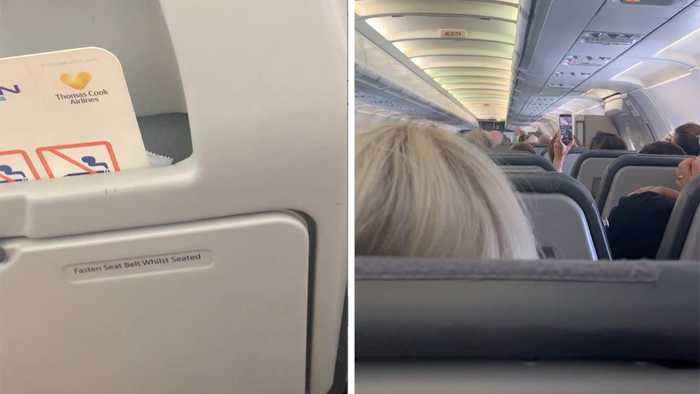 """TOUCHING MOMENT CABIN CREW ON ONE OF FINAL THOMAS COOK FLIGHTS SAY THE COMPANY WILL BE """"GONE BUT NEVER FORGOTTEN"""""""