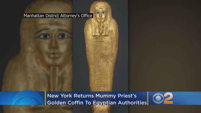 New York Returns Mummy Priest's Golden Coffin To Egyptian Authorities