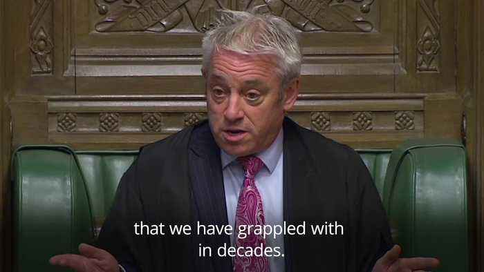 Speaker John Bercow brands Commons culture as 'toxic'