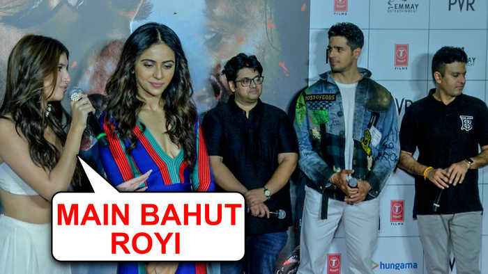 Tara Sutaria Gets EMOTIONAL On Stage With Sidharth Malhotra | Marjaavaan Trailer Launch