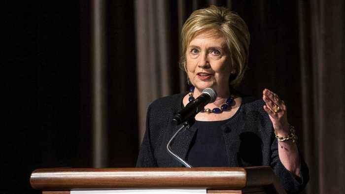 Hillary Clinton Refers To Trump As A 'Corrupt Human Tornado'