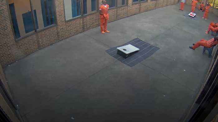 Ohio inmate attempts to catch contraband package dropped from drone