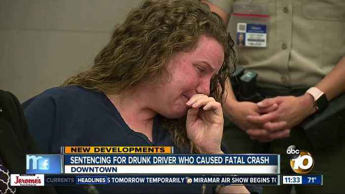Drunk driver sentenced for deadly crash