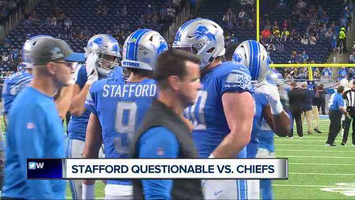 Matthew Stafford listed on Lions injury report with hip