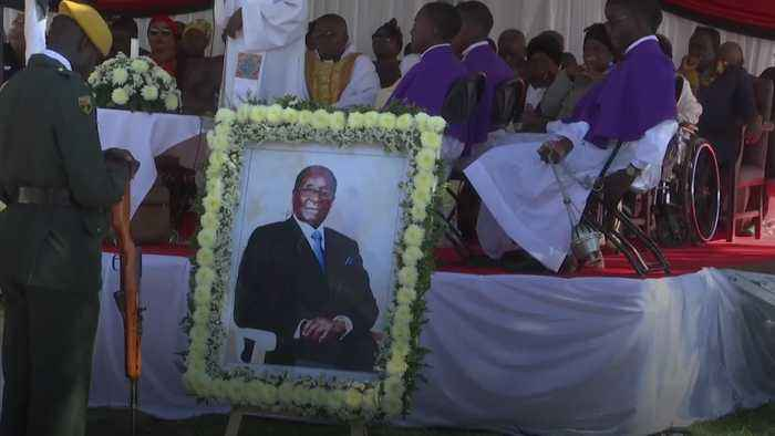 Robert Mugabe buried in grounds of rural home