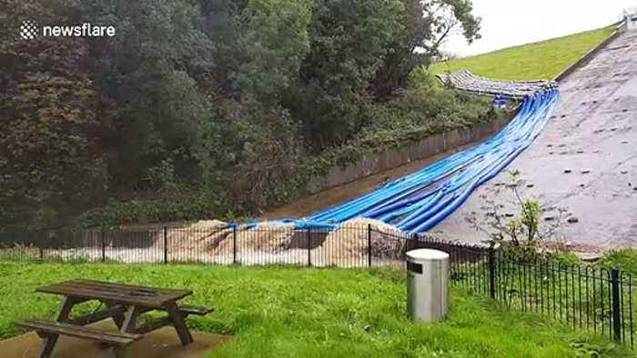Toddbrook Reservoir in Whaley Bridge fills but holds firm despite heavy rain