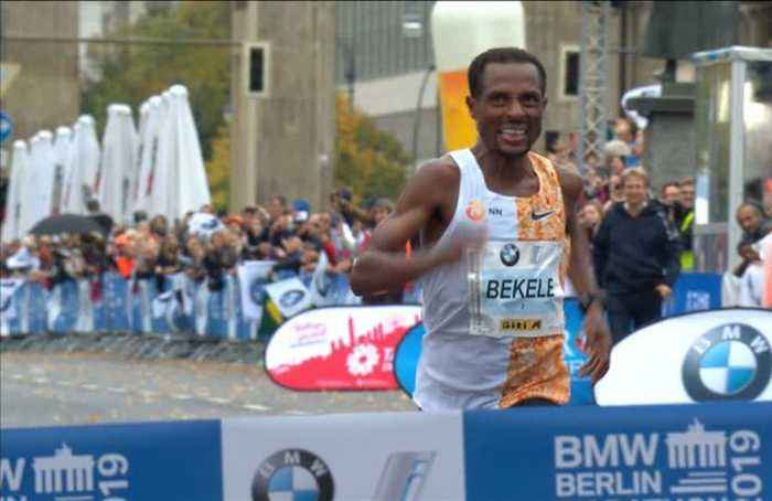 Bekele narrowly misses world record in Berlin marathon win