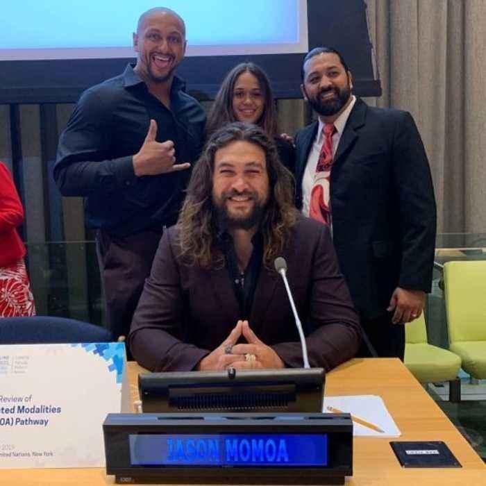 Jason Momoa Makes UN Climate Change Address