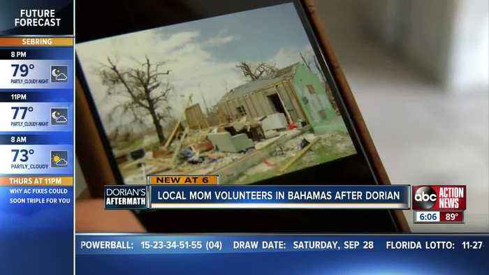 Hernando County mom volunteers in the Bahamas to aid relieve to hurricane victims