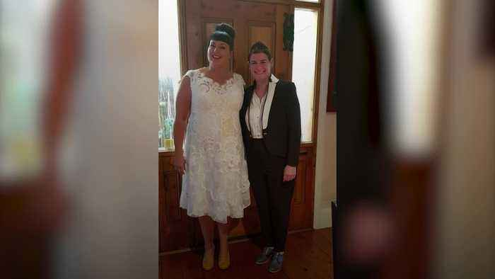 Environmentalist bride wears wedding dress everywhere