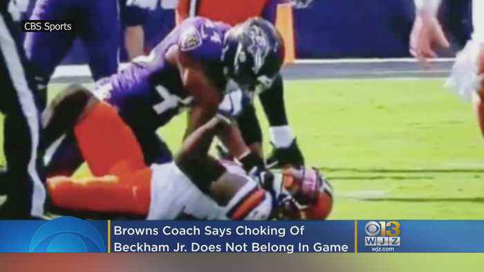 Cleveland Browns Coach: Choke Of Odell Beckham Jr. Doesn't Belong In NFL Game