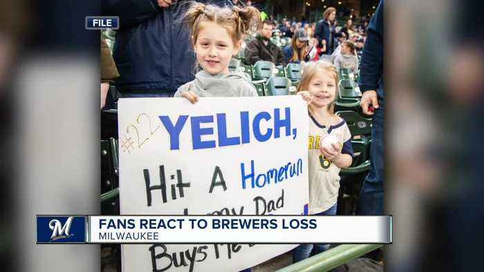 Girl given dog by Yelich cheers on Brewers in playoffs