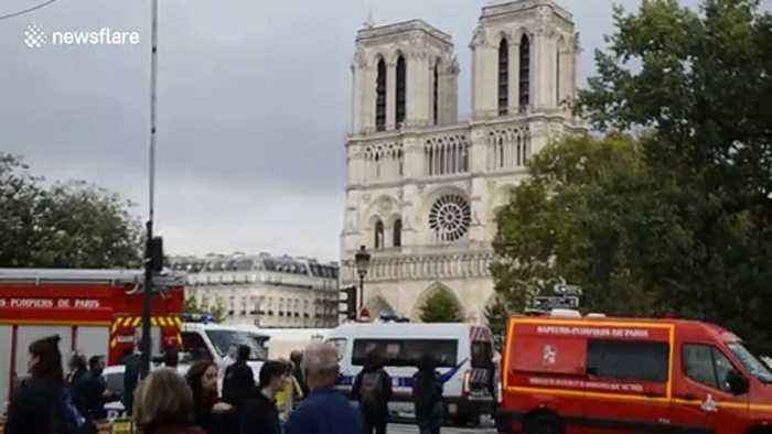 Emergency services at the scene of Paris knife attack that left four officers dead