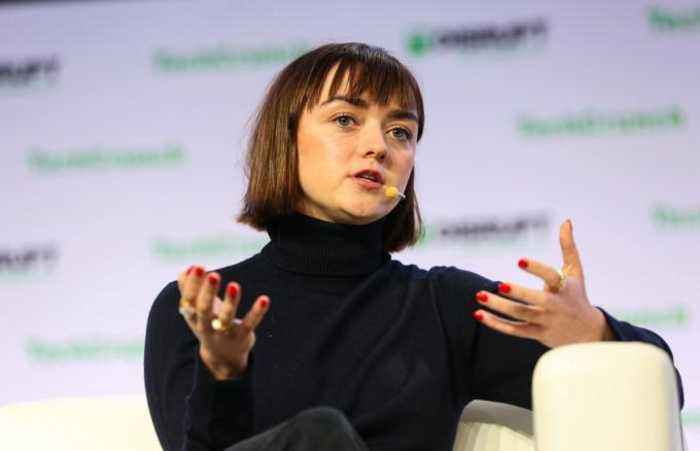 Surprise guest Maisie Williams speaks at Disrupt SF
