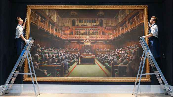 Banksy Painting Sells For Record-Breaking $12.2 Million