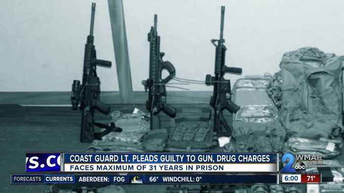 Maryland Coast Guard Lt. pleads guilty to 4 federal gun and drug charges