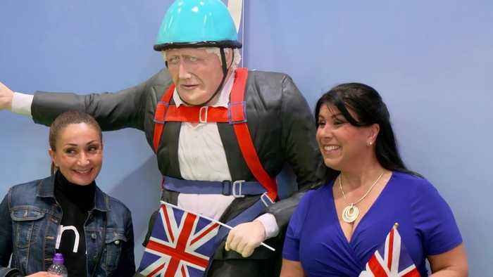 Boris Johnson cake goes on display