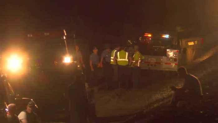 Child Killed in Van-Train Crash