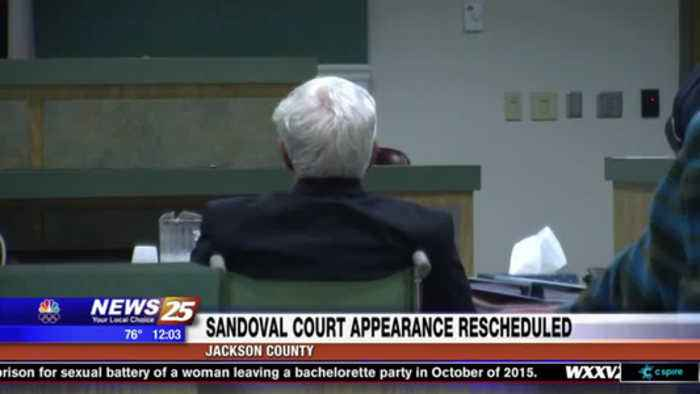 Sandoval court appearance rescheduled