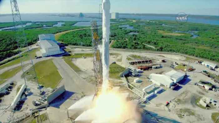 SpaceX Supply Ship Lifts Off From Launch Pad Rebuilt