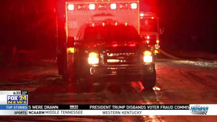 Icy Conditions Create Difficult Response for Firefighting