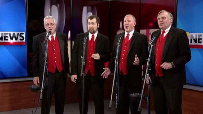 VIDEO Barbershop quartet kicks off day of singing Valentines