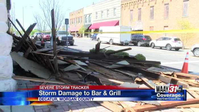 Decatur Business Regroup from Storm Damage