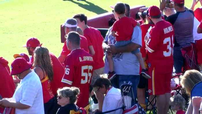 Large crowds turn out for Chiefs camp