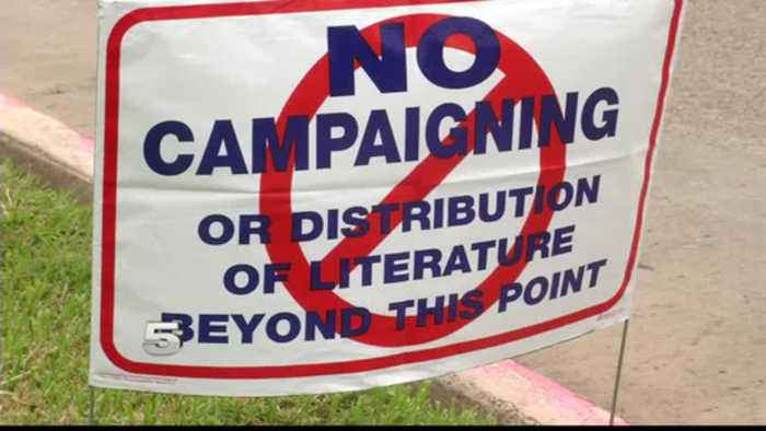 Local Enforcement Officers Making Sure Political Signs in Check Amid Election Campaigns