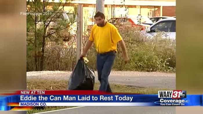 Eddie the Can Man laid to rest