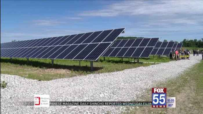 Solar generating station helps those who can't go green