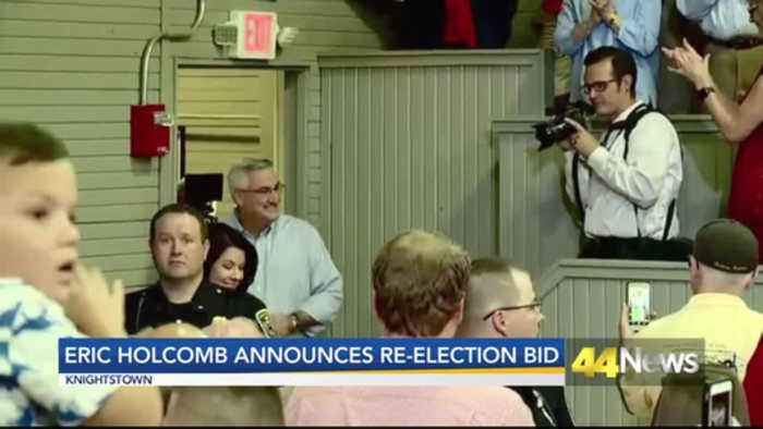 Eric Holcomb annnounces bid for re-election