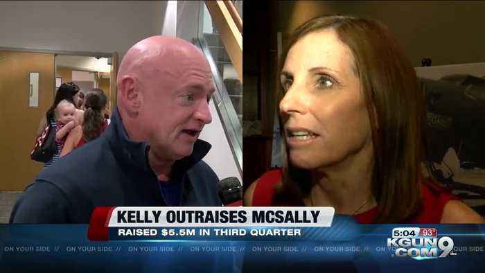 Democrat Kelly outraises GOP's McSally in Arizona Senate bid
