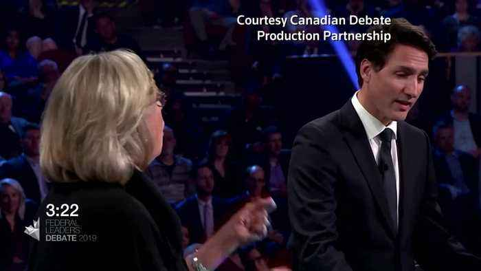 Canada's Trudeau takes the heat in election debate