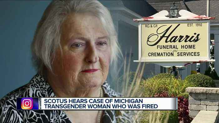 Supreme Court hears case of Michigan transgender woman who says she was fired after transitioning