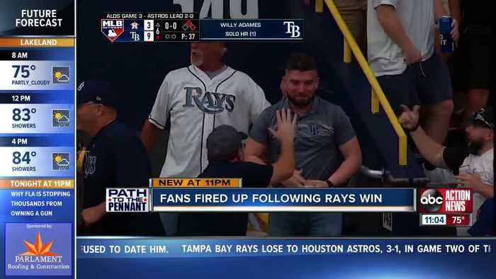 Rays pummel Astros to force Game 4, fans pumped after win