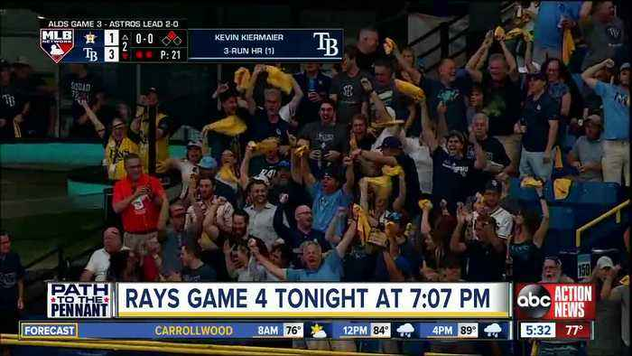 Tampa Bay Rays will host Houston Astros in Game 4 of ALDS