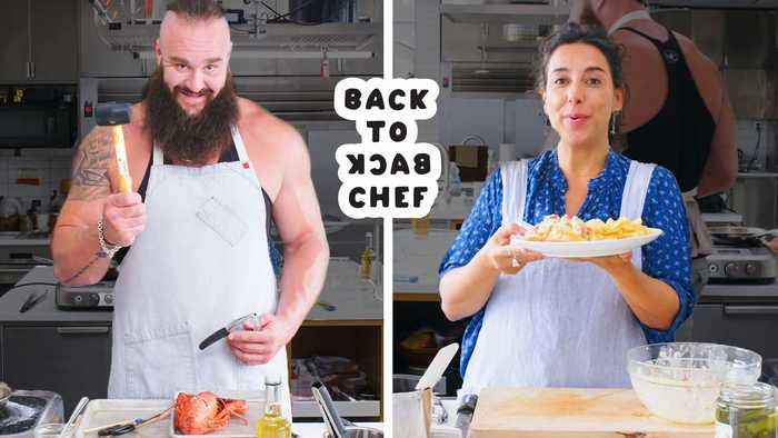 WWE Superstar Braun Strowman Tries to Keep Up with a Professional Chef