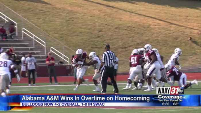 Alabama A&M Wins Homecoming Game in Overtime