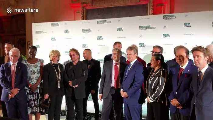Bono, Bill Gates and Emmanuel Macron meet at global fundraiser to fight diseases