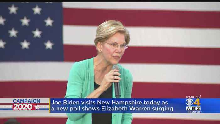 Joe Biden Visits New Hampshire As New Poll Shows Elizabeth Warren Surging