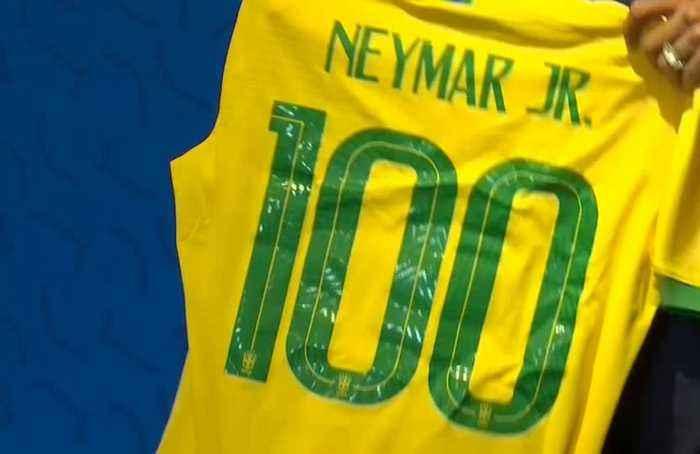 Neymar set for 100th cap, says happy at PSG