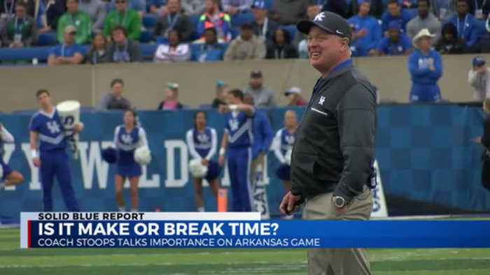 Coach Stoops talks importance of Arkansas game