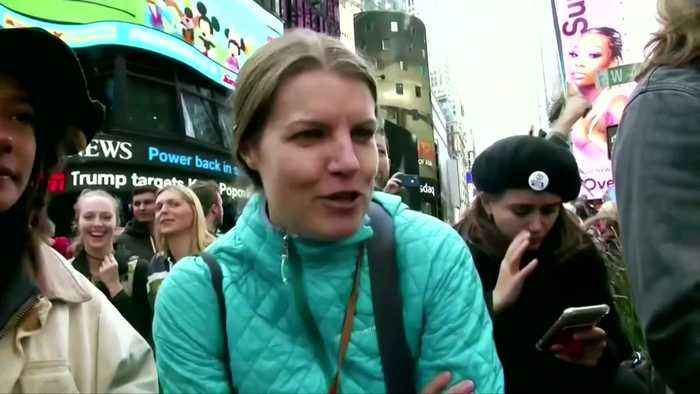 Climate protesters arrested after blocking Times Square