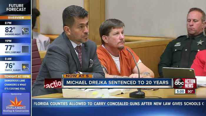 Clearwater parking lot shooter Michael Drejka sentenced to 20 years in prison
